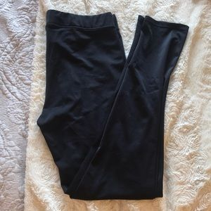 Pink by VS Shiny Black Stretch Leggings - Size L